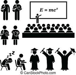 scuola, università, studente università