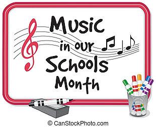 scuole, musica, mese, nostro