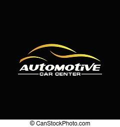 scuro, automobilistico, fondo, oro, automobile