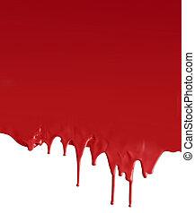 scuro, bianco, sgocciolatura, rosso