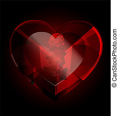 scuro, heart-crystal, rosa