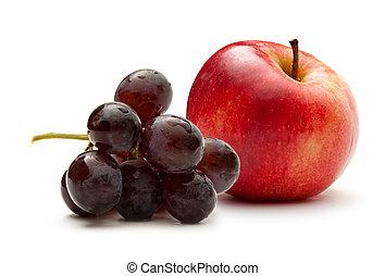 scuro, mela, uva, rosso