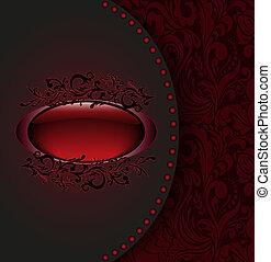 scuro, scheda rossa