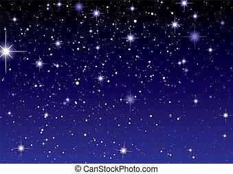 scuro, stella, spazio, cielo, vista