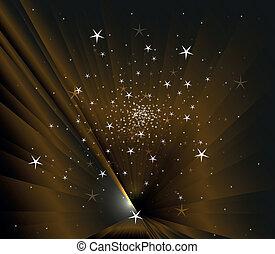 scuro, vettore, stelle, fondo