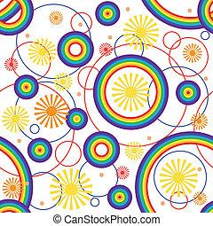 seamless., arcobaleno, fondo.