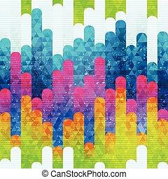 seamless, arcobaleno, zebrato, modello