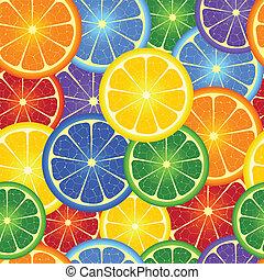 seamless, fondo, arcobaleno, arancia