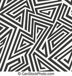 seamless, monocromatico, labirinto, pattern.