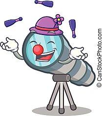 sedia, giocattolo, telescopio, cartone animato, manipolazione