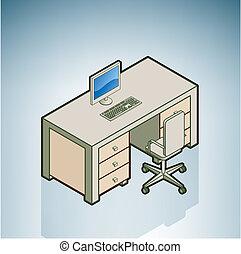 sedia, scrivania ufficio