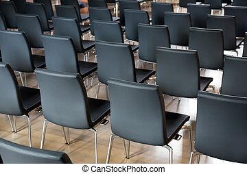 sedie, corridoio conferenza