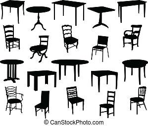 sedie, tavoli