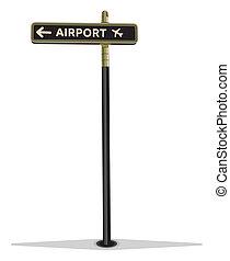 segnale stradale, aeroporto