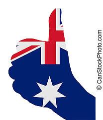 segnali, australiano, mano
