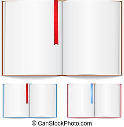 segnalibro, libro, aperto