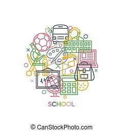 segni, linea, concetto, stile, icone, scuola