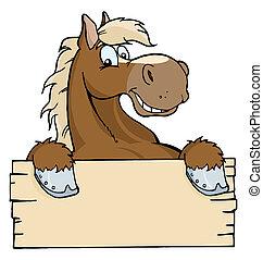 segno bianco, cavallo