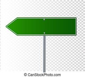 segno bianco, verde, strada
