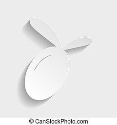 segno., carta, oliva, stile, icona