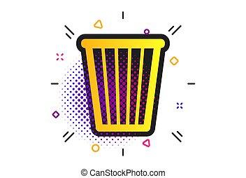 segno, icon., vettore, simbolo., contenitore raccolta differenziata