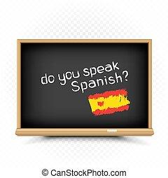 segno, lezioni spagnole, scuola, disegnare, lavagna