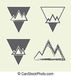 segno, montagna, vettore, illustrazione