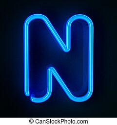 segno, neon, lettera n