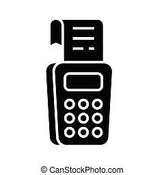 segno., nero, appartamento, icona, contabilità, illustrazione, simbolo, concetto, vettore, glyph