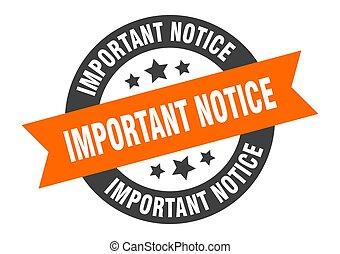 segno., orange-black, avviso, nastro, importante, adesivo, rotondo