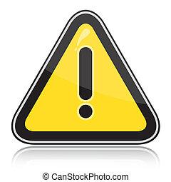 segno, pericoli, altro, triangolare, avvertimento, giallo
