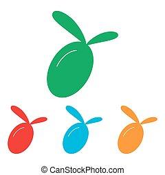segno., set, oliva, colorfull