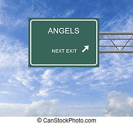 segno strada, affari, angelo