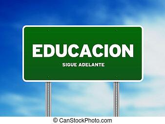 segno strada, educazione