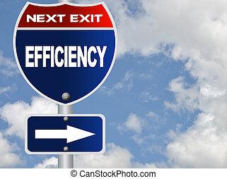 segno strada, efficienza