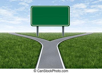 segno strada, metafora