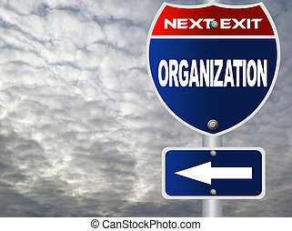 segno strada, organizzazione
