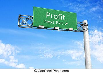 segno strada principale, profitto, -