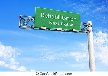 segno strada principale, riabilitazione, -