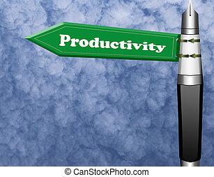 segno strada, produttività