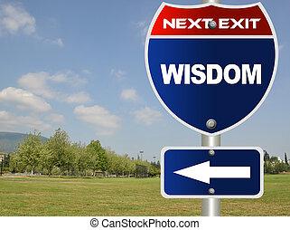 segno strada, saggezza