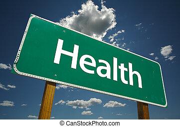 segno strada, salute