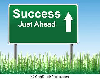 segno., successo, strada