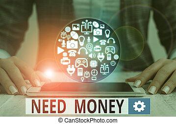 segno, testo, assistenza, foto, richiedere, bisogno, sostenere, o, endeavor., concettuale, finanziario, spendere, esposizione, soldi.