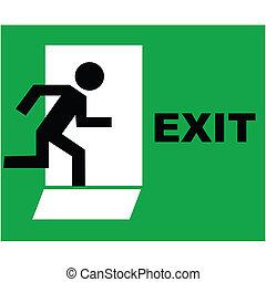 segno, uscita, icona