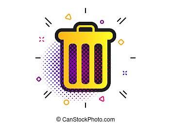 segno, vettore, simbolo., contenitore raccolta differenziata, icon.
