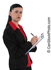 segretario, appunti, scrittura