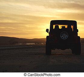 selva tramonto, veicolo