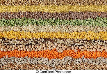 semi, vario, grani