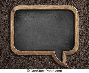 semina, suolo, consiglio, vuoto, testo, lavagna, messaggio, o